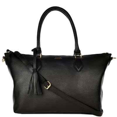 NEW PAMINA - Grained leather shoulder bag