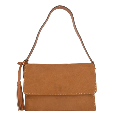 COLOMBE - Suede effect clutch bag