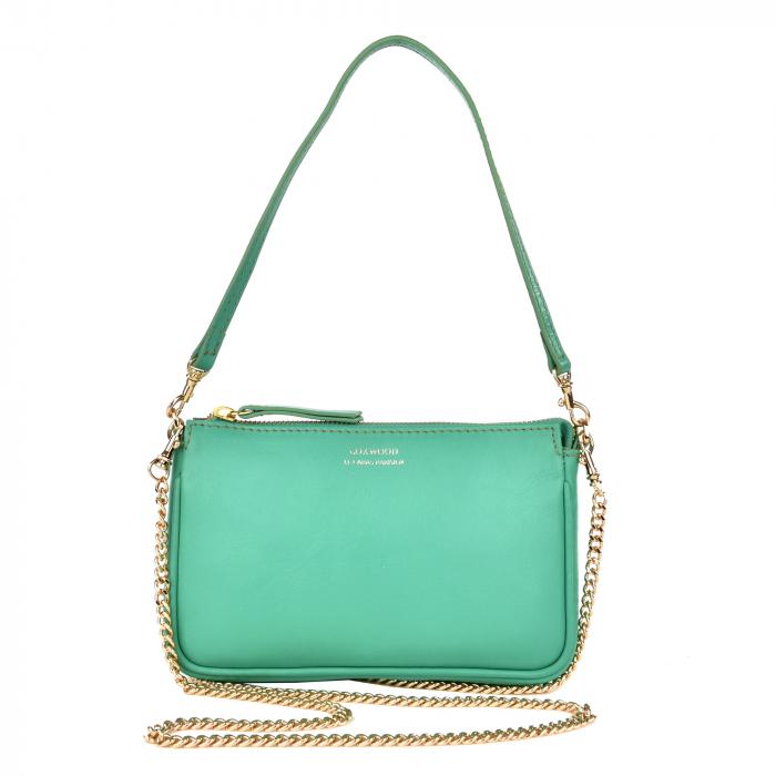 LUNA - Mini nappa leather clutch bag