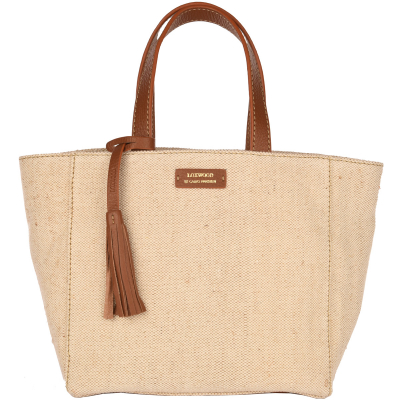 Small PARISIAN tote bag - Canvas & leather