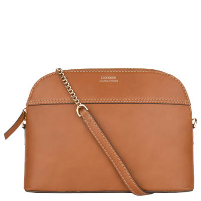 HALF-MOON - Smooth leather shoulder bag