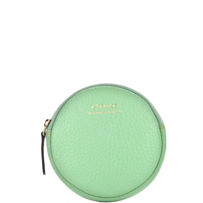 MOON - Grained leather purse