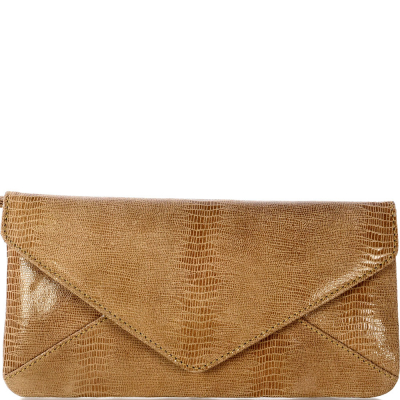 Printed suede leather LANA purse