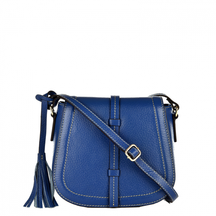 Grained leather satchel