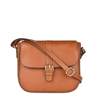 MILLY - Besace cuir sellier