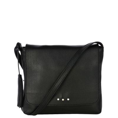 ANOUK - Grained leather messenger bag