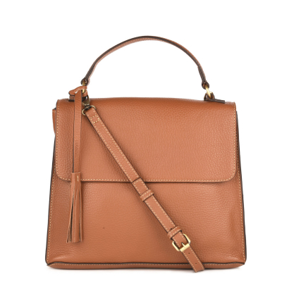 CLEO - Leather handbag with strap