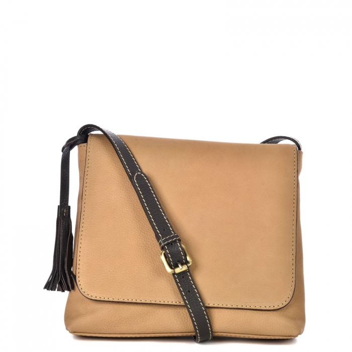 Nubuck leather messenger bag ANOUK