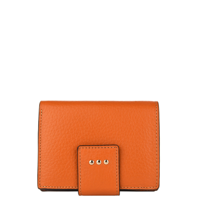 SMALL BACK-TO-BACK WALLET - Grained leather