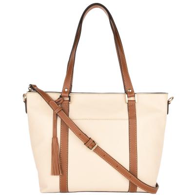 NEW ARLETTY - Large grained leather handbag