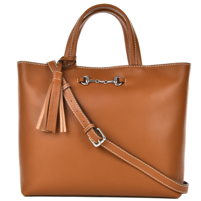MARION - Large natural leather tote bag