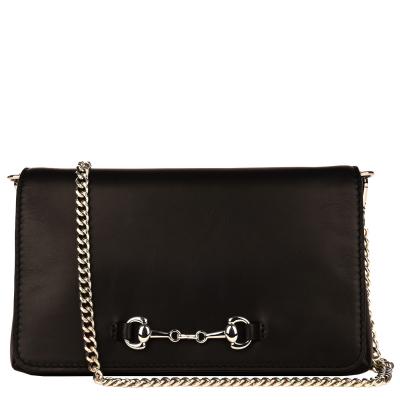 ORIANE - Natural leather clutch bag