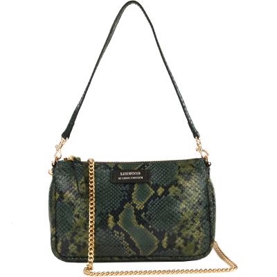 LUNA - Mini python leather effect clutch bag