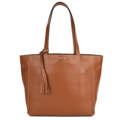 MONTMARTRE - Grained leather tote bag