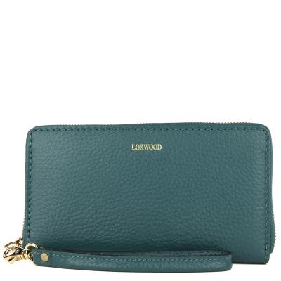 Leather zip around wallet
