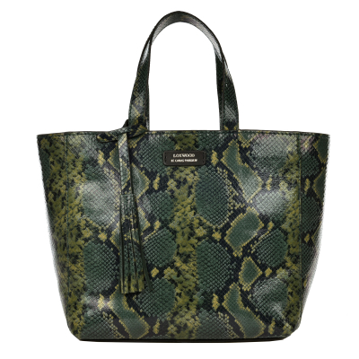 Small PARISIAN tote bag - Python effect leather
