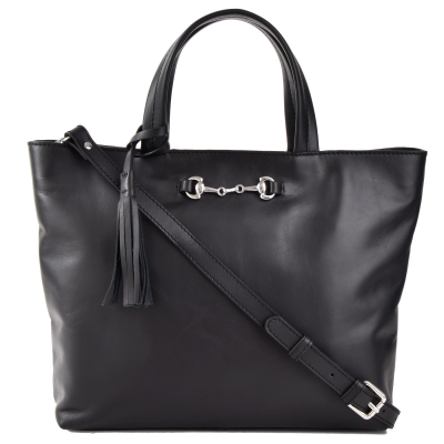 MARION - Grand sac cabas en cuir naturel